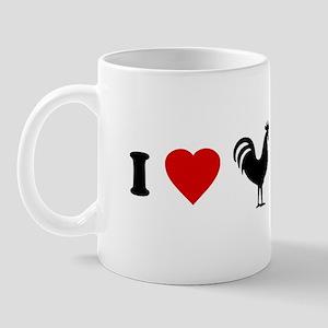 I Love [Heart] Cock Mug